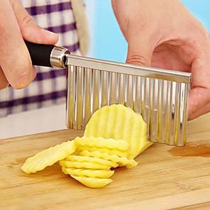 ieftine Ustensile Bucătărie & Gadget-uri-1 buc Ustensile de bucătărie Teak Novelty Cutter pe & Slicer pentru legume