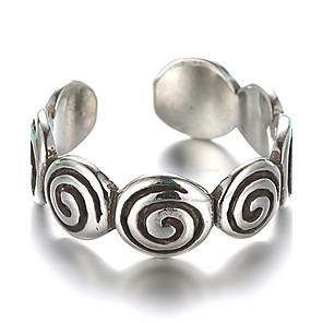 ieftine Inele-Band Ring Inel reglabil degetul mare Argintiu Plastic Argintiu femei Vintage Zilnic Casual Bijuterii Artizan