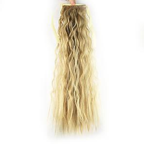 ieftine Extensii de Păr-Buclat în Profunzime Coadă de cal Sintetic Fir de păr Extensie de păr Căpșună Blonde / Light Blonde