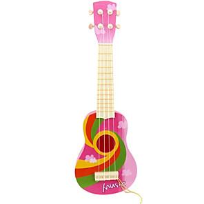 ieftine Organizatoare Birou-din plastic roz simulare chitara copil pentru copii peste 8 instrumente muzicale de jucărie