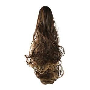 ieftine Extensii de Păr-Cu Clape Ondulat Coadă de cal Cârlig de prindere / clapă Fir de păr Extensie de păr 24 inch Bej