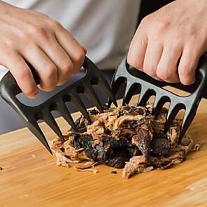ieftine Ustensile & Gadget-uri de Copt-2pcs poartă labele gheare carne furculiță cleste trageți mărunțire carne de porc bbq instrument
