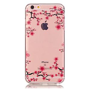 ieftine Organizatoare Birou-Maska Pentru Apple iPhone X / iPhone 8 Plus / iPhone 8 Transparent / Model Capac Spate Floare Moale TPU