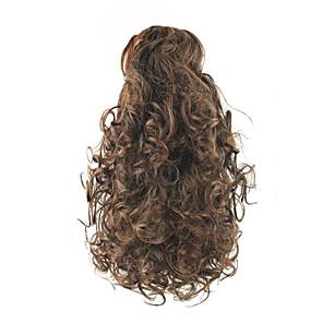ieftine Extensii de Păr-Cu Clape Buclat Coadă de cal Elastic Cârlig de prindere / clapă Fir de păr Extensie de păr 14 inch Auburn medie