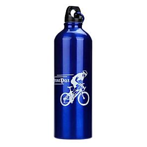 ieftine Sticle & Support Sticle-Bicicletă Sticle de Apă Portabil Non Toxic BPA Nelipicios Pentru Ciclism Bicicletă șosea Bicicletă montană Aliaj din aluminiu Argintiu Rosu Albastru 1 pcs
