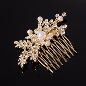 ieftine Piepteni-Pentru femei Pentru Nuntă Ocazie specială Cristal Ștras Auriu Argintiu