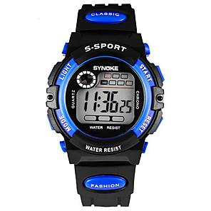 ieftine Ceasuri Bărbați-SYNOKE Ceas de Mână Digital Rezistent la Apă Cauciuc Negru Piloane de Menținut Carnea - Galben Albastru / Alarmă / Calendar / Cronograf / Luminos / LCD