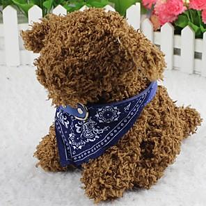 ieftine Câini Gulere, hamuri și Curelușe-Pisici Câine Bandană Guler Modă Floare Material Textil Rosu Albastru Roz