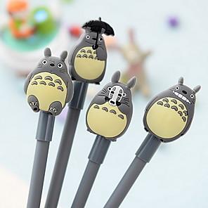 ieftine Instrumente Scris & Desen-Stilou Stilou Pixuri cu Gel Stilou, Silicon Plastic Negru Culori de cerneală For Rechizite școlare Papetărie Pachet de