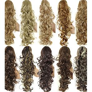 ieftine Peruci & Extensii de Păr-Coadă de cal Păr Sintetic Fir de păr Extensie de păr Buclat