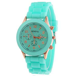 ieftine Cuarț ceasuri-Pentru femei Ceas de Mână femei Cronograf Analog Alb Negru Mov / Un an / Silicon / Un an