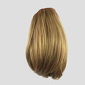 ieftine Peruci & Extensii de Păr-Cu Clape Buclat Coadă de cal Cârlig de prindere / clapă Fir de păr Extensie de păr 10 inch Blond căpșună
