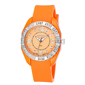 ieftine Brățări-Bărbați Pentru femei Ceas Sport Ceas Militar  Uita-te inteligent Quartz Charm Calendar Silicon Alb / Roșu / Orange Analog - Alb Mov Rosu / Mare Dial
