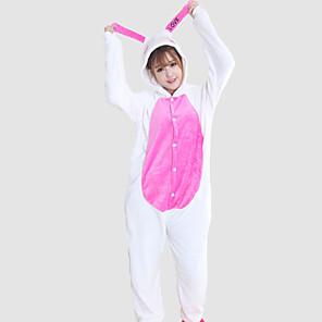 povoljno Halloween smink-Odrasli Kigurumi plišana pidžama Zec Sa životinjama Onesie pidžama Coral runo Cosplay Za Muškarci i žene Zivotinja Odjeća Za Apavanje Crtani film Festival / Praznik Kostimi