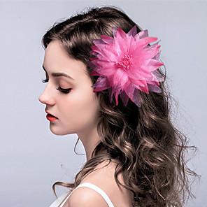 ieftine Bijuterii de Păr-Material Textil Flori / Veșminte de cap / Clip de păr cu Floral 1 buc Nuntă / Ocazie specială Diadema