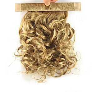 ieftine Extensii de Păr-Cu Clape Buclat Coadă de cal Elastic Înfășurați-vă Fir de păr Extensie de păr 12 inch Auriu