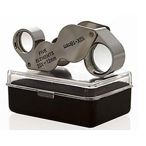 ieftine Microscop & Endoscop-Microscop / Lupe Bijuterii / Reparație Ceas High Definition / Mâner / Pliere / Generic 10X  20X 18mm Normal Metal