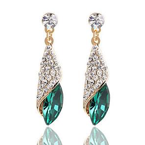 povoljno Naušnice-Žene Vedro Crn Plav Kristal Viseće naušnice Princeza Naušnice Jewelry Crn / Zelen / Plava Za 1pc