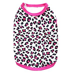 ieftine Imbracaminte & Accesorii Căței-Pisici Câine Tricou Leopard Modă Îmbrăcăminte Câini Respirabil Negru Trandafiriu Costume Bumbac XS S M L