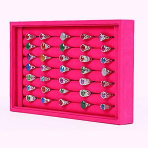 ieftine Împachetare Bijuterii & Ecrane-Pătrat Cutii de Bijuterii / Prezentări de Bijuterii - Modă Roze, Negru și Alb 23 cm 14.5 cm / Pentru femei