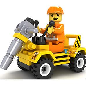 hesapli İnşaat ve Bloklar-JIE STAR Oyuncak Arabalar Legolar 1 pcs Araba Kamyon Stavební stroj uyumlu Plastik Metal Legoing Çevre-dostu Inşaat Aracı Genç Erkek Oyuncaklar Hediye / Çocuklar için