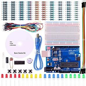 ieftine Conectoare & Terminale-Proiectul uno kit de pornire de bază cu tutorial și uno r3 pentru Arduino