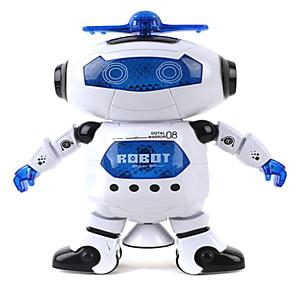 ieftine Alte RC-Robot Iluminat LED Muzică Draguț cântat Dans ABS Băieți Fete Jucarii Cadou 1 pcs
