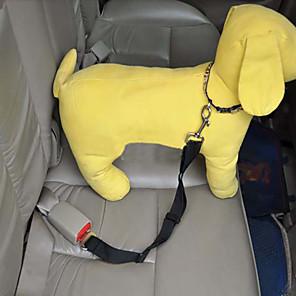 ieftine Câini Gulere, hamuri și Curelușe-Câine Lese Ajustabile Pentru Mașină Siguranță Nailon Rosu Albastru Roz