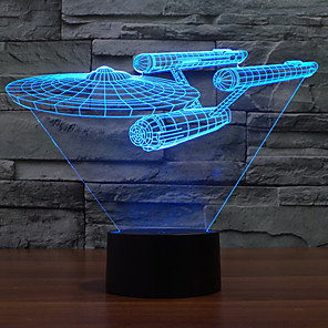 ieftine Tricouri LED-3D Nightlight Intensitate Luminoasă Reglabilă USD 1 piesă
