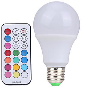 ieftine Becuri LED Glob-YWXLIGHT® 1 buc 10 W Bulb LED Glob 500 lm E26 / E27 A60(A19) 12 LED-uri de margele SMD Intensitate Luminoasă Reglabilă Telecomandă Decorativ Alb Rece RGB 220-240 V 110-130 V 85-265 V / 1 bc / RoHs