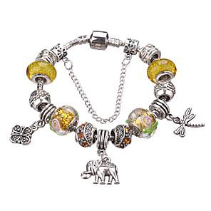 ieftine Inele-Pentru femei Fete Cristal Brățări cu Talismane Brățări cu Mărgele Cu Mărgele European Durabil Modă Stilul Folk Teracotă Bijuterii brățară Mov / Fucsia / Galben Pentru Cadouri de Crăciun Petrecere