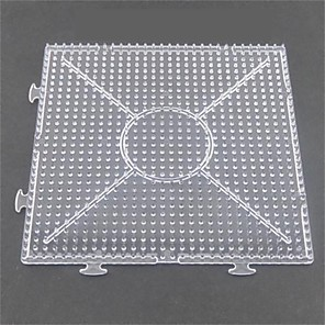 cheap Beads & Beading-1PCS Template Clear General Linkable Large Pegboard 15*15cm Square for 5mm Hama Beads Fuse Beads