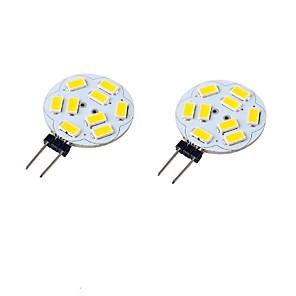 ieftine Becuri LED Bi-pin-2pcs 3 W Becuri LED Bi-pin 300-350 lm G4 T 9 LED-uri de margele SMD 5730 Decorativ Alb Cald Alb Rece 12 V 24 V 9-30 V / 2 bc / RoHs