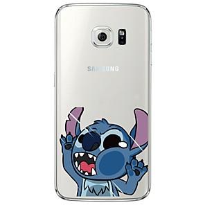 ieftine Câini Articole şi Îngrijire-Maska Pentru Samsung Galaxy S7 edge / S7 / S6 edge plus Transparent / Model Capac Spate Desene Animate Moale TPU