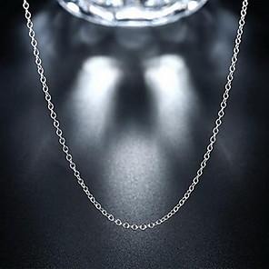 levne Náhrdelníky s přívěšky-Unisex Řetízky Levný Lahůdka dámy Přizpůsobeno Módní Stříbro Stříbrná Náhrdelníky Šperky Pro Svatební Párty Denní Ležérní Sport Práce