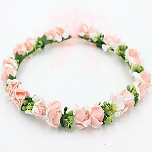 ieftine Bijuterii de Păr-Pentru femei Fete Pentru Nuntă Petrecere Ocazie specială Concediu Flori Dantelă Aliaj Mov Galben Rosu