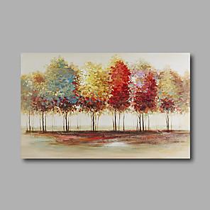 povoljno Bojano-Hang oslikana uljanim bojama Ručno oslikana - Sažetak Pejzaž Moderna Uključi Unutarnji okvir / Prošireni platno