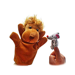 cheap Huawei Screen Protectors-Lion Finger Puppets Puppets Hand Puppet Cute Novelty Lovely Cartoon Textile Plush Boys' Girls' Toy Gift