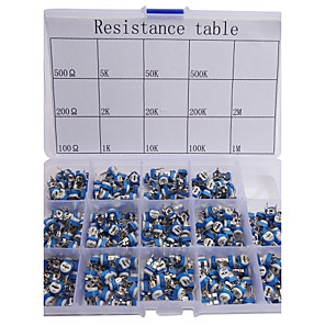 ieftine Capacitor-rezistență variabilă Asortate kit de 14 valoare 280pcs potențiometru