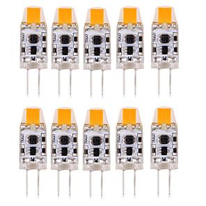 ieftine Becuri LED Bi-pin-10pcs 1W 100-150lm G4 Becuri LED Bi-pin T 1 LED-uri de margele COB Rezistent la apă / Decorativ Alb Cald / Alb Rece / Alb Natural 12V /