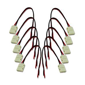 ieftine Conectori-kwb-8mm 2pin 10pcs conectori pentru bandă 3528 pentru o singură culoare