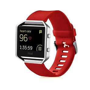 Недорогие Ремешки для спортивных часов-Ремешок для часов для Fitbit Blaze Fitbit Спортивный ремешок силиконовый Повязка на запястье