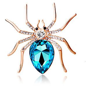 ieftine Ceasuri Damă-Pentru femei Broșe Solitaire femei Personalizat Modă Cristal Broșă Bijuterii Mov Albastru Închis Albastru Deschis Pentru Petrecere Zilnic Casual