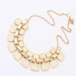 levne Módní náhrdelníky-Dámské Prohlášení Náhrdelníky Prohlášení Vintage Módní Slitina Bílá Černá Fialová Náhrdelníky Šperky Pro Svatební Párty Denní Ležérní Práce