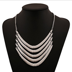 ieftine Colier la Modă-Pentru femei Coliere Coliere Layered Multistratificat Declarație femei Personalizat Boem Aliaj Auriu Argintiu Coliere Bijuterii Pentru Petrecere Zilnic Casual
