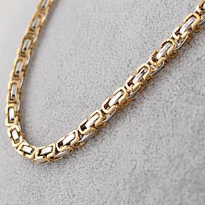 ieftine Colier la Modă-Bărbați Lănțișoare femei Vintage Modă Hip-Hop Oțel titan Negru Argintiu Auriu Coliere Bijuterii Pentru Petrecere Zilnic Casual