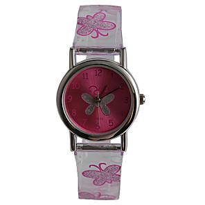 ieftine Ceasuri Damă-Ceas de Mână Quartz Violet Rezistent la Apă Analog femei Casual Fluture Modă - Transparent Un an Durată de Viaţă Baterie / Tianqiu 377