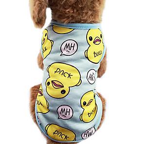 ieftine Imbracaminte & Accesorii Căței-Pisici Câine Tricou Îmbrăcăminte Câini Albastru Roz Costume Bumbac Desene Animate Modă XS S M L XL XXL