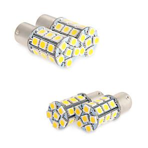 ieftine Becuri De Mașină LED-4x alb 1156 BA15S a condus 27-smd lumina becurilor coada rv de backup rulotă 1141