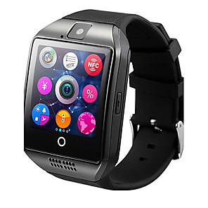 cheap Smart watches-Q18 Smart Watch BT Fitness Tracker Support Notify/ Heart Rate Monitor/ Hands-Free Calls with Camera & SIM-card Slot Sports Smartwatch Compatible Samsung/ Android/ Iphone